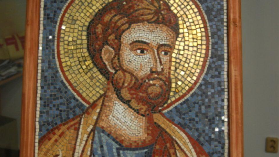 Claudiu Opaina: Svatý apoštol Petr. Mozaika.