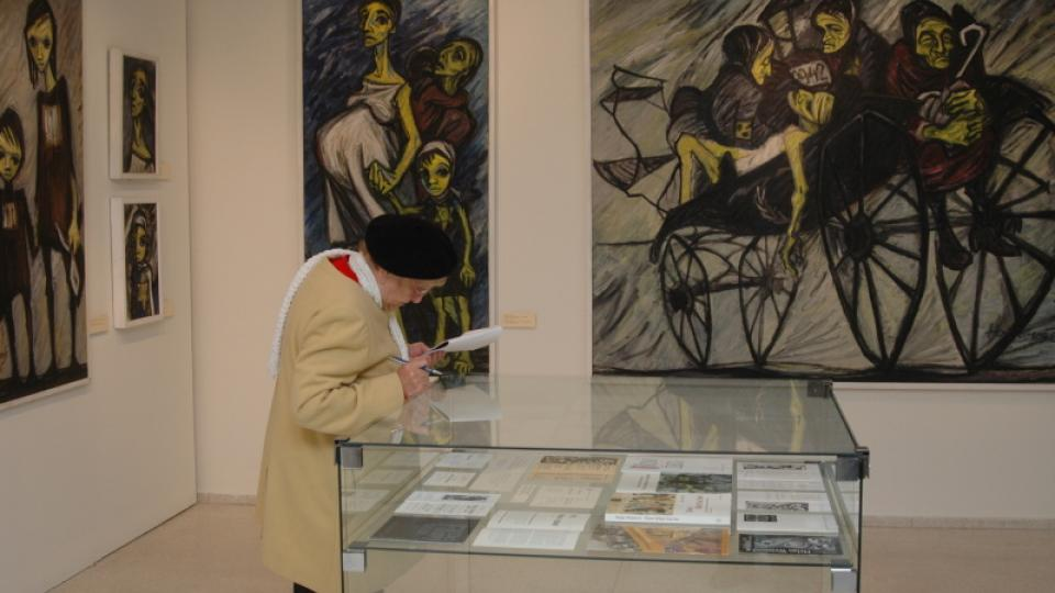 Obrazy a kresby Helgy Hoškové-Weissové na výstavě k jejím 80. narozeninám