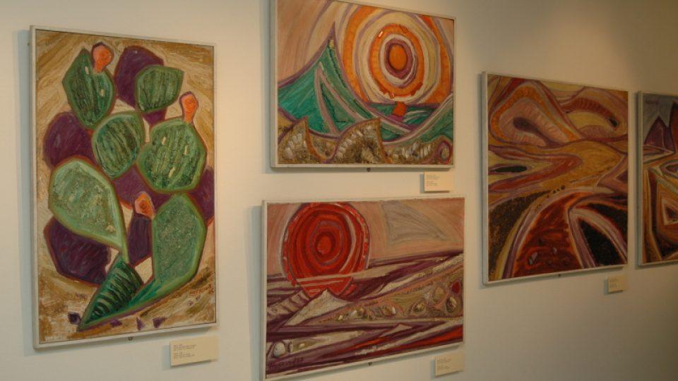 Po návratu z Izraele se paleta Helgy Hoškové-Weissové poprvé rozzářila jasnými barvami