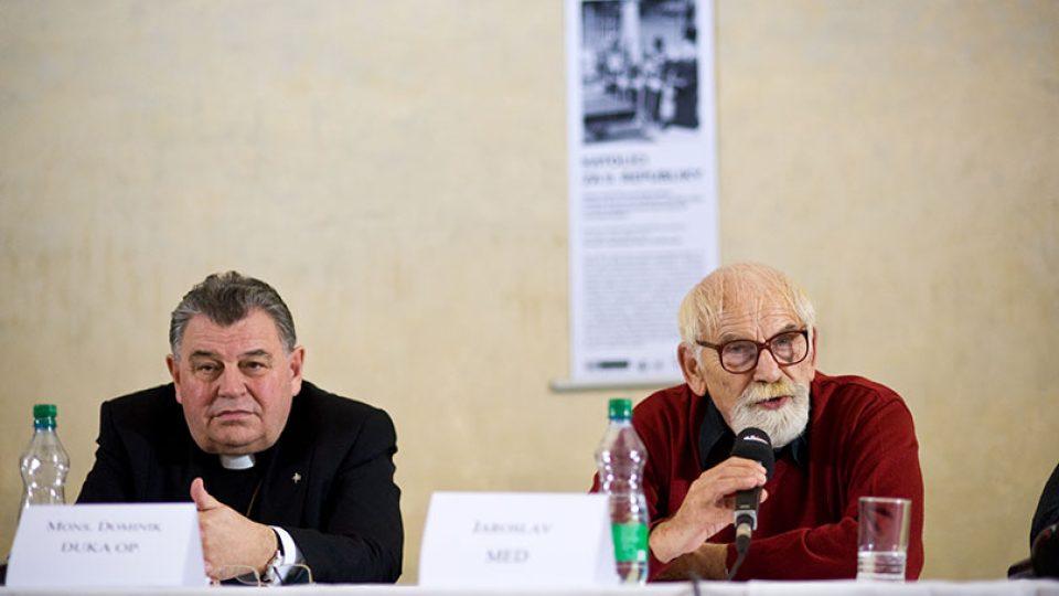 Arcibiskup Dominik Duka OP a Jaroslav Med