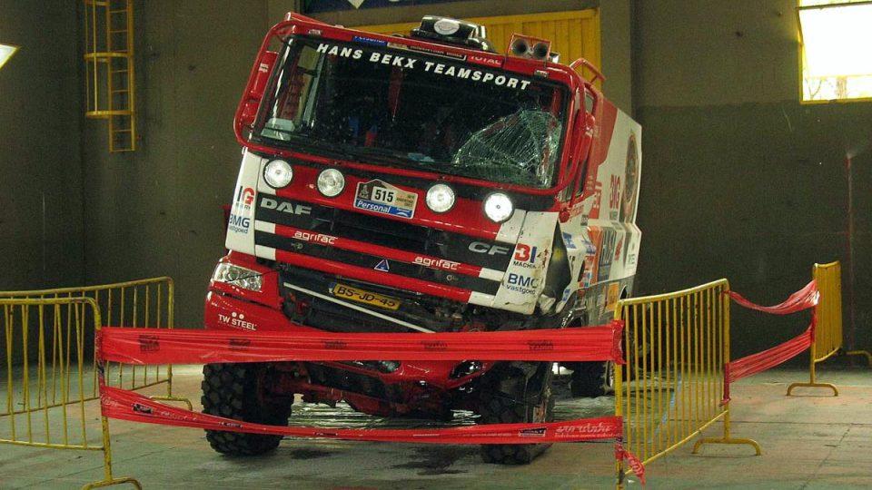 Zničený Bekxův kamión zůstal v Córdobě
