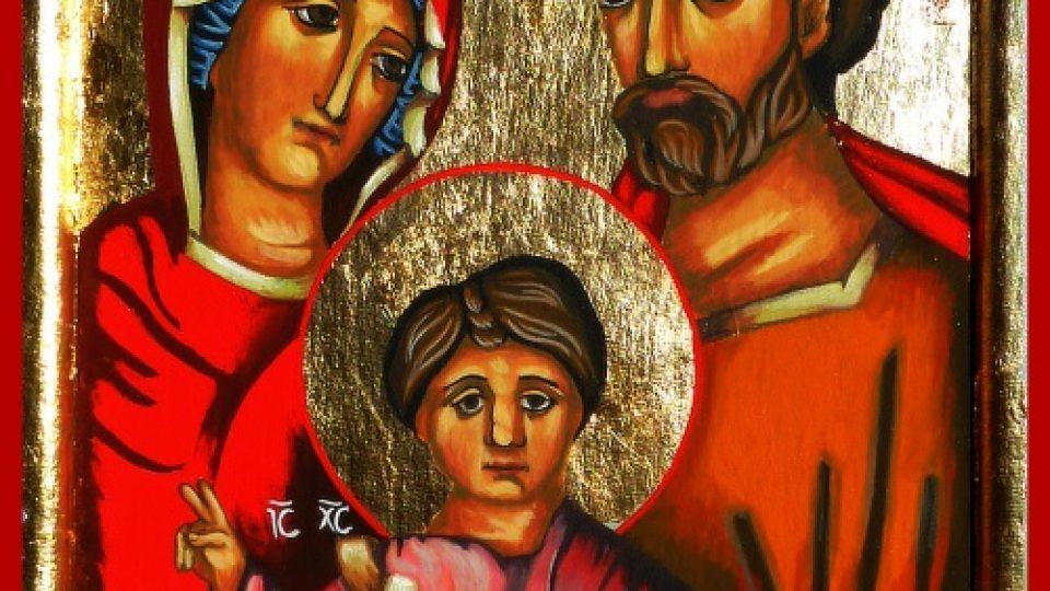 Svatá Rodina. Autor ikony: Martin Damian