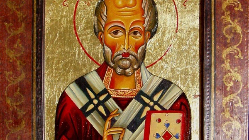 Svatý Mikuláš. Autor ikony: Martin Damian