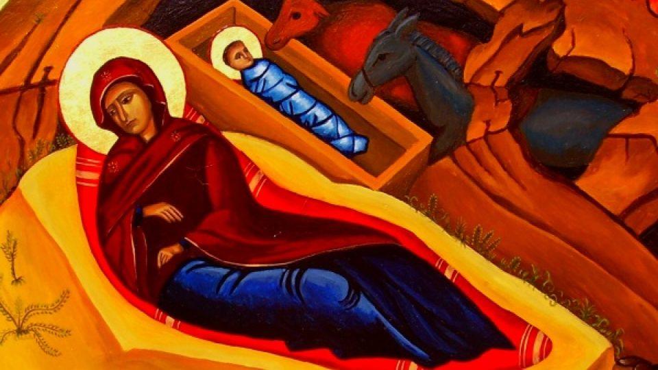 Narození Páně. Autor ikony: Martin Damian