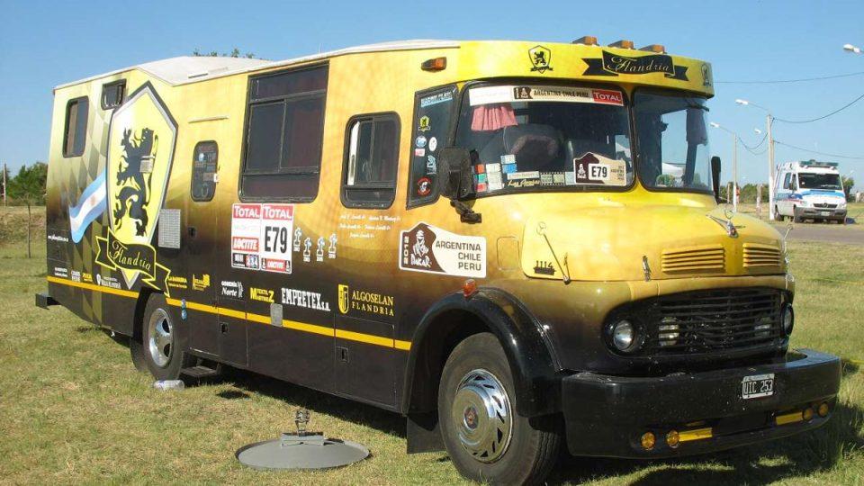 Historický argentinský doprovodný autobus