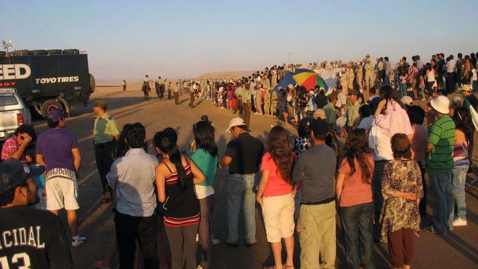 Rozloučení chilských fanoušků s Dakarem 2012