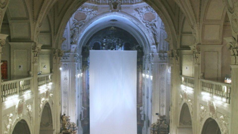 Postní plátno v kostele Nejsvětějšího Salvátora v Praze