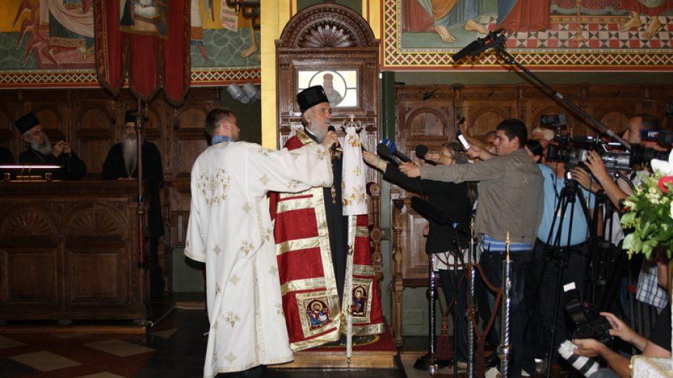 Srbský patriarcha Irinej při návštěvě Chorvatska