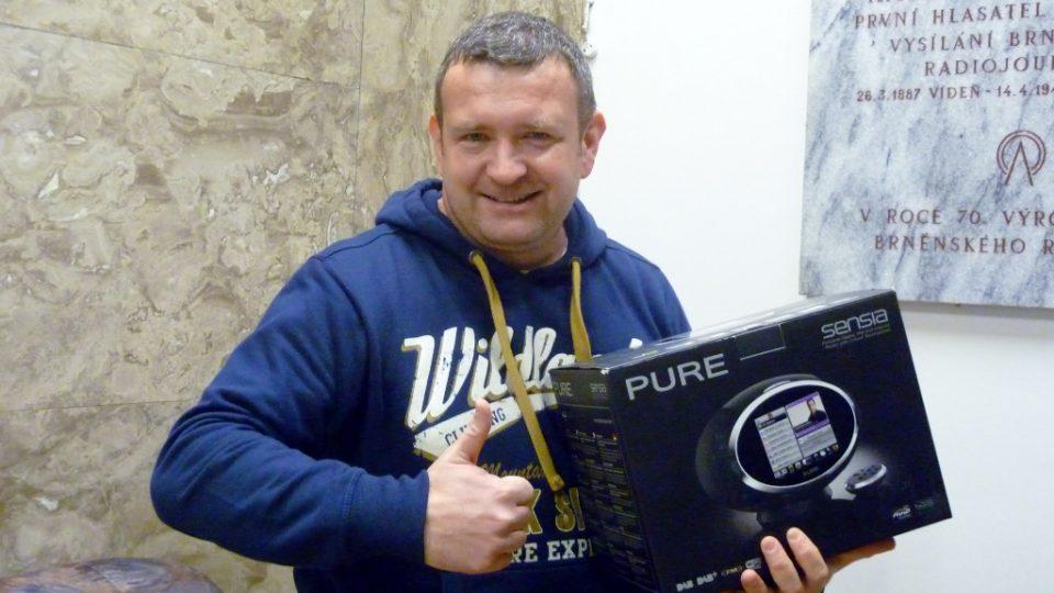 Chytré rádio PURE Sensia udělalo na jihu Moravy radost Martinu Urbánkovi