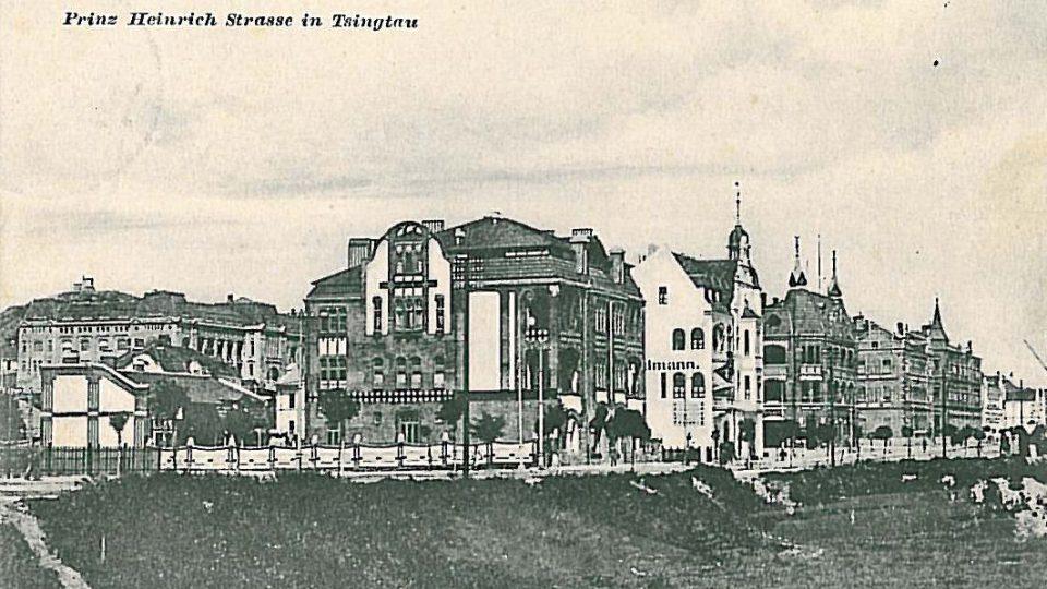 Prinz Heinrich Strasse v Čching tao kolem roku 1900