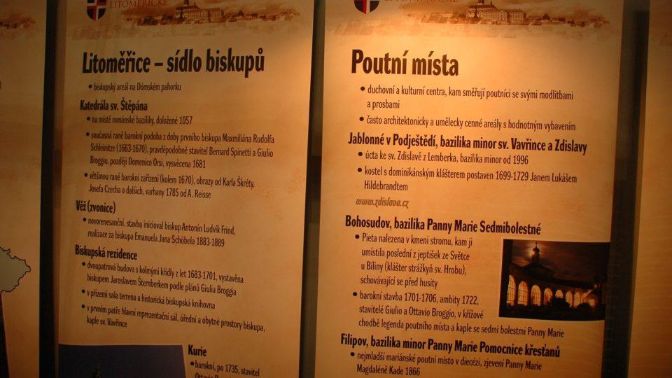Stánek Biskupství litoměřického na veletrhu Památky - Incheba v Praze