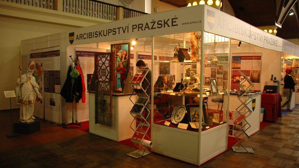 Stánek Arcibiskupství pražského na veletrhu Památky - Incheba v Praze