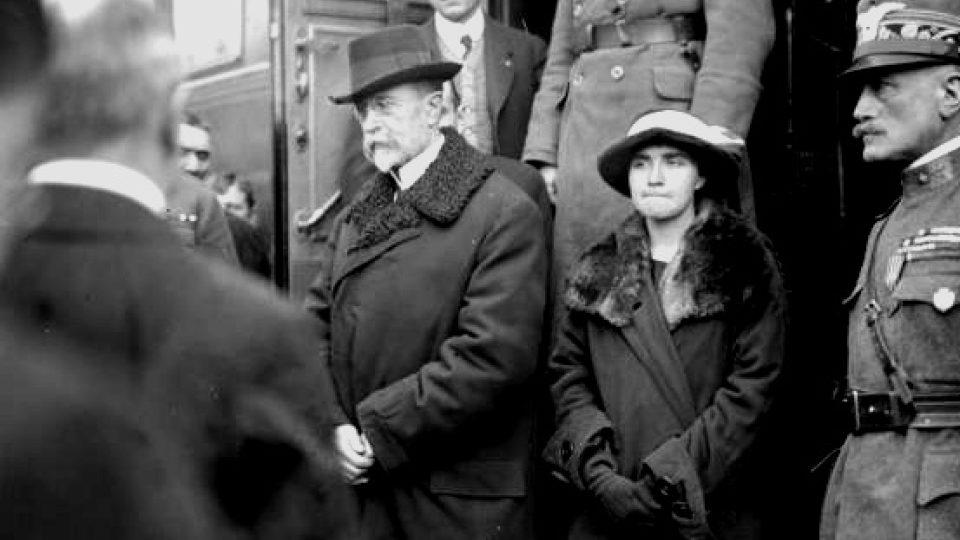 Tomáš Garrigue Masaryk s dcerou Olgou