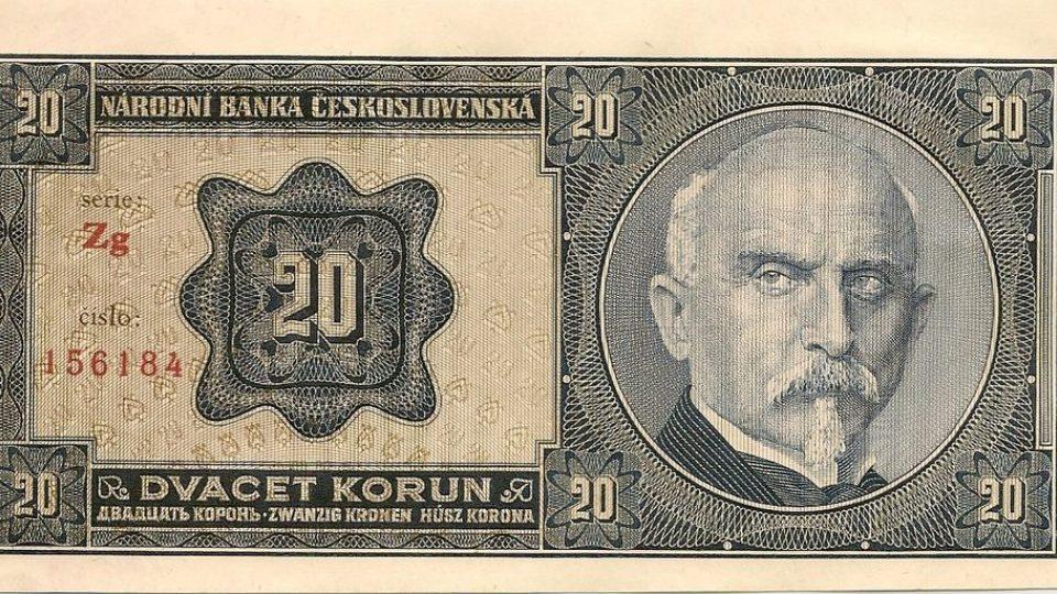 Dvacetikoruna z roku 1926 s Aloisem Rašínem