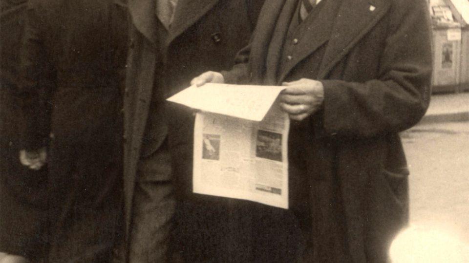 Emanuel Steiner s otcem Josefem (1939 - 1940)