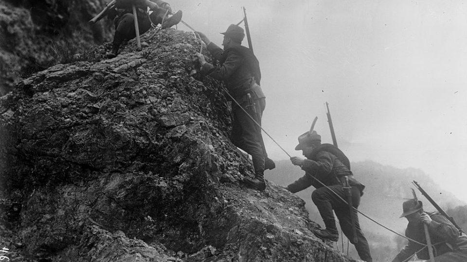 Jednotka italských alpinistů, 1. světová válka