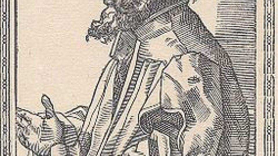 Tobias Simmer, Johannes Hus, rytina v knize Nicolaus Reusner: Icones sive Imagines virorum literis illustrium, 1587
