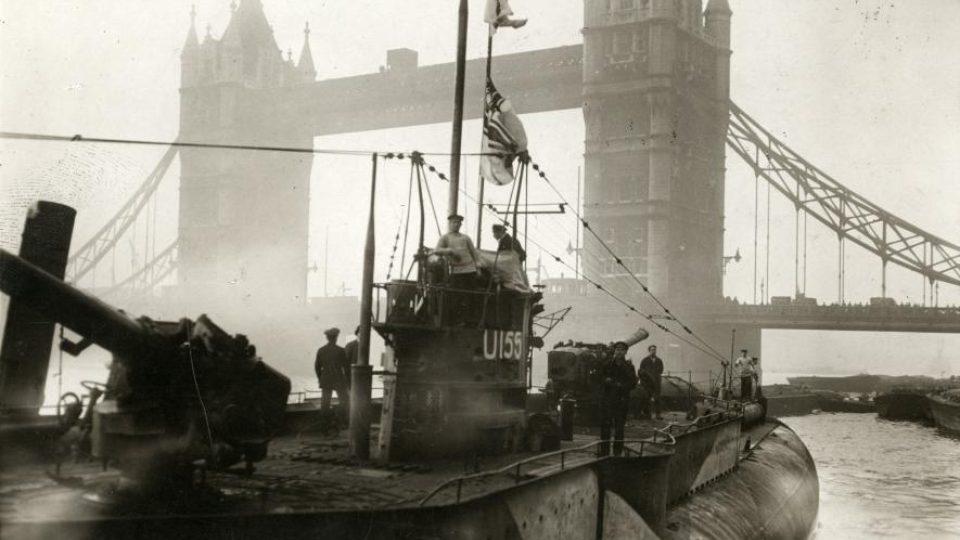 Německá ponorka v Londýně v roce 1918
