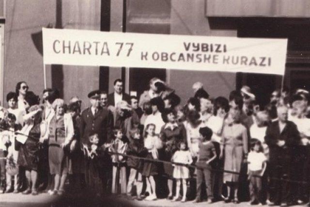Z výstavy Charta 77